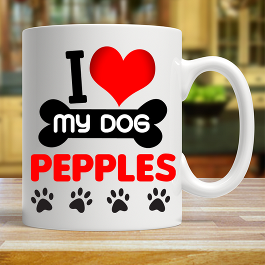 I Love My Dog - Mug Personalized