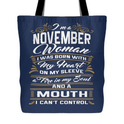 November Birthday Tote Bag