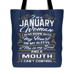 January Birthday Tote Bag