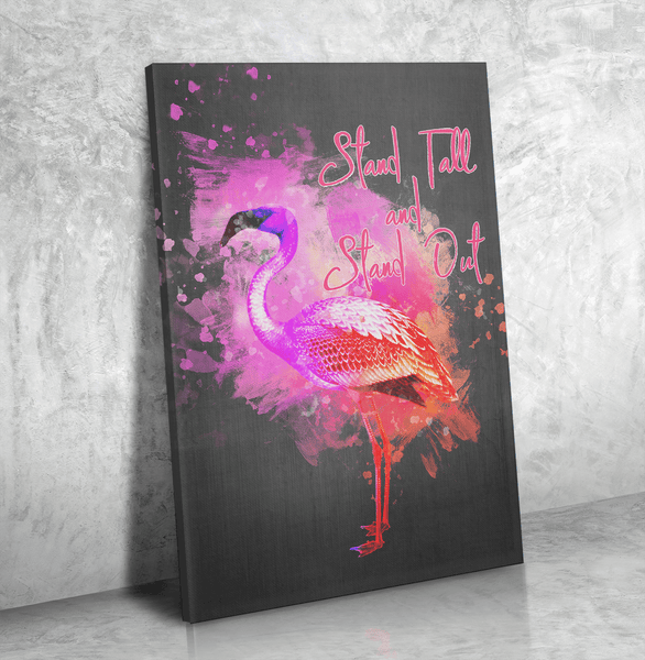 Flamingo Stand Tall - Canvas Print Art