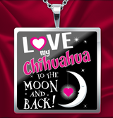 Chihuahua - Moon & Back Necklace