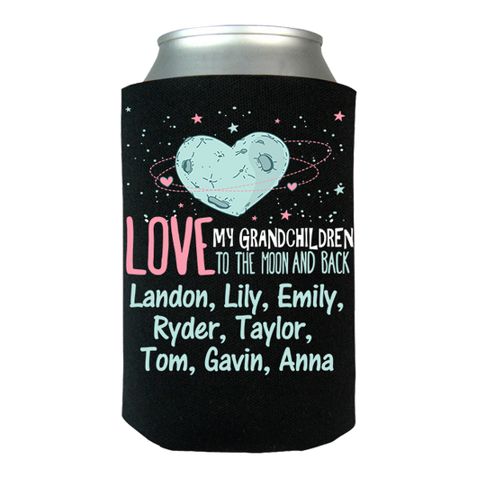 Moon and Back Grankids - Koozies Personalized