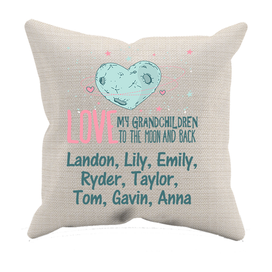 Moon and Back Grandkid Pillow Case - Personalized