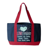 Moon and Back Grandkids - Tote Bags Personalized