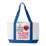 Love More than a Nurse - Tote Bag- Grandma - Personalized