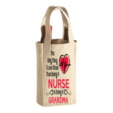 Love More than a Nurse - Wine Bags - Grandma Personalized