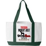 Worlds Best Dog Mom - Tote Bags Personalized