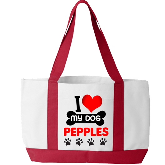 I Love My Dog - Tote Bags Personalized