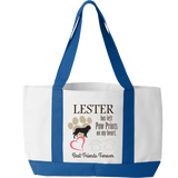 Paw Prints On Heart  - Tote Bag Personalized