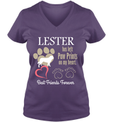 Paw Prints On Heart - T-shirt Personalized