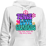 Peace Love & Grandkids - T-shirt Personalized