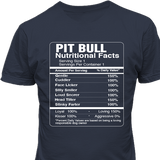 Pitbull Nutritional Facts Tshirt