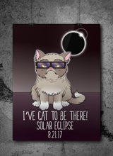 Grumpy Solar Eclipse Cat Poster - August 21st 2017