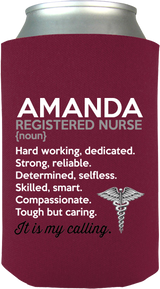 Registered Nurse It's My Calling Koozie - Personalized