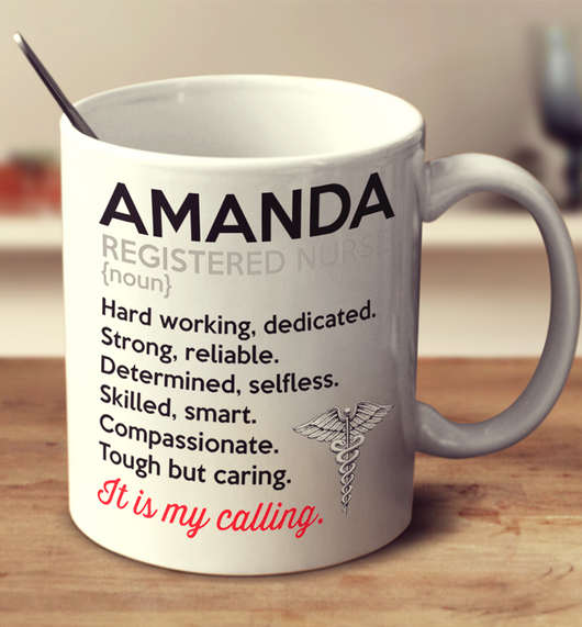 Registered Nurse It's my calling - Mug- Personalized