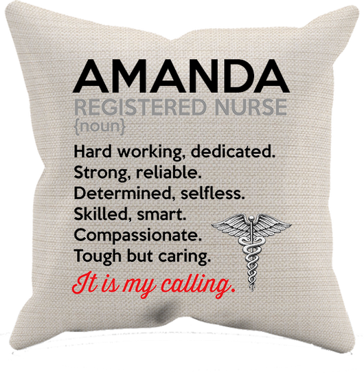 Registered Nurse It's my calling - Personalized Pillow Case