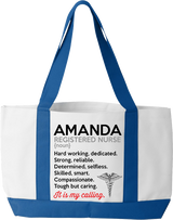 Registered Nurse It's My Calling Tote Bags - Personalized