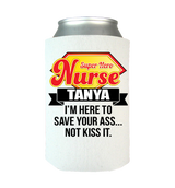 Funny Super Hero Personalized Koozie/Can Wraps
