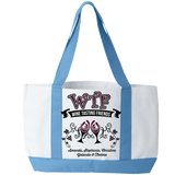 WTF - Wine Tasting Friends - Tote Bags