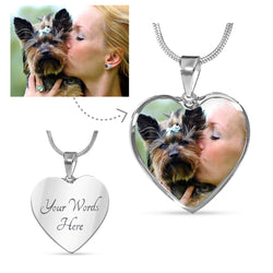 Dog Personalized Photo Heart Necklace