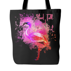 Flamingo - Stand Tall - Tote Bag