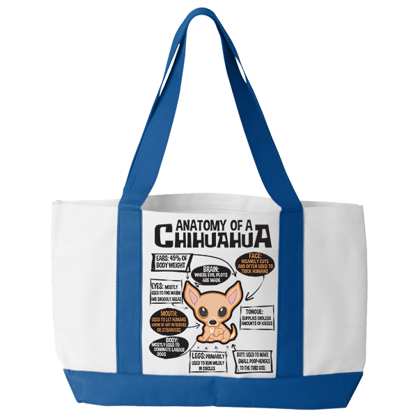 Anatomy of a Chihuahua - Tote Bags