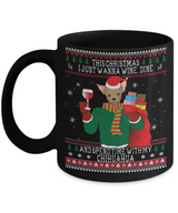 Chihuahua Wine Lovers Ugly Christmas Mug