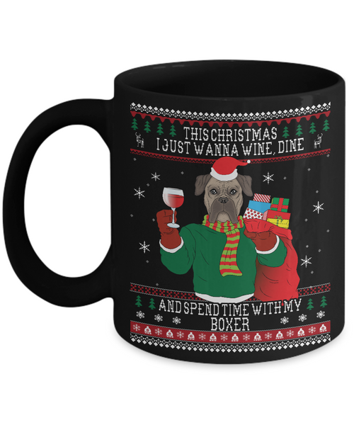 Boxers  Wine Lovers Ugly Christmas Style Mug