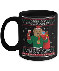 Golden Retriever - Ugly Christmas Style Mug