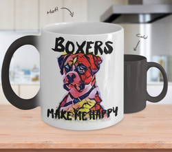 Boxers make me Happy - Color Changing Mug