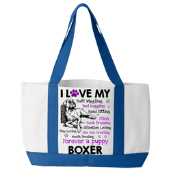 I Love My Boxer - Tote Bags