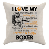 I Love My Boxer - Pillow Case