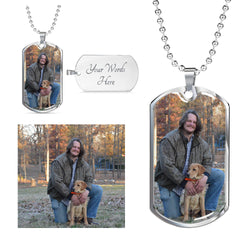 Personalized Photo Dog Tag - Upload your photo here