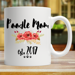 Poodle Mom Personalized Mug
