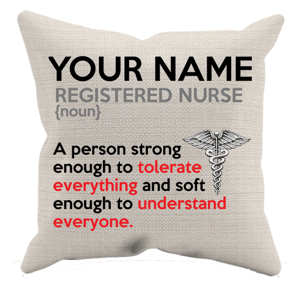 Registered Nurse - Soft Enough - Personalized Pillow Case