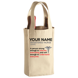Registered Nurse - Soft Enough - Personalized Wine Bag