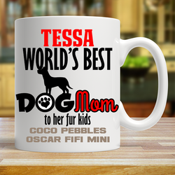 Worlds Best Dog Mom - Mug Personalized