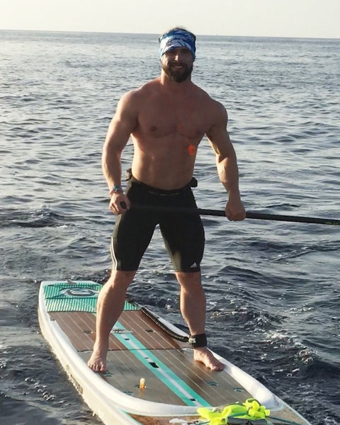 Ben Mudge on a Paddleboard Crossing for a Cure