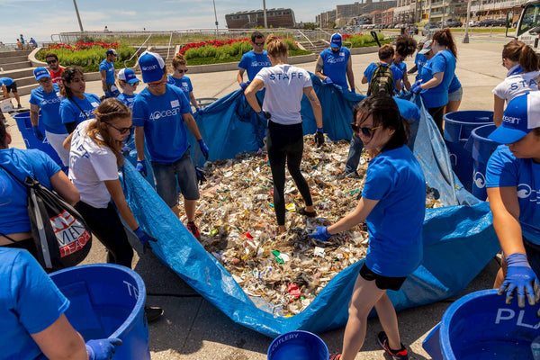 4ocean Collects Trash from Rockaway Beach Cleanup