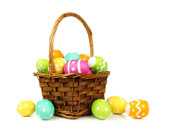 Natural Wood and Wicker Easter Basket