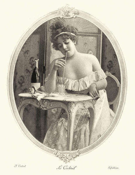 1880s Women Drinking from Straw
