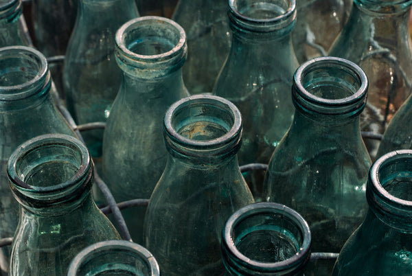 Old Glass Water Bottles