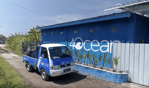 4ocean Van in Front of 4ocean Headquarters in Bali Indonesia