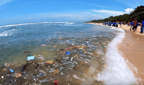 Massive Amount of Single-use Plastic in the Bali Surf
