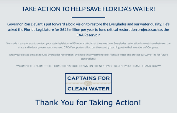 Tell Your Legislators You Support Everglades Restoration Now