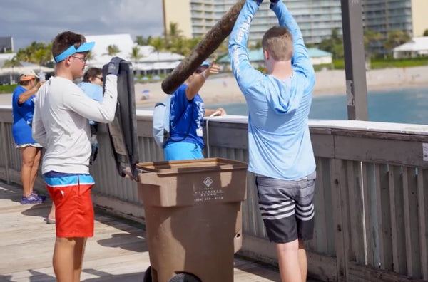 People Sorting Debris at the Guinness World Record Largest Underwater Cleanup