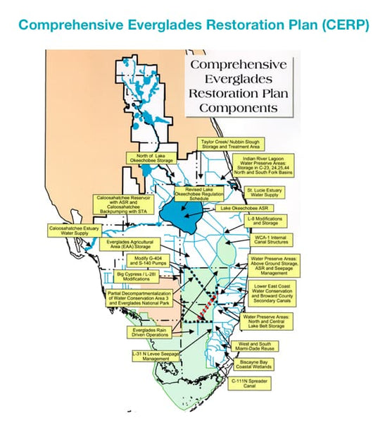 Comprehensive Everglades Restoration Plan (CERP) Project Map - 4ocean Everglades Bracelet