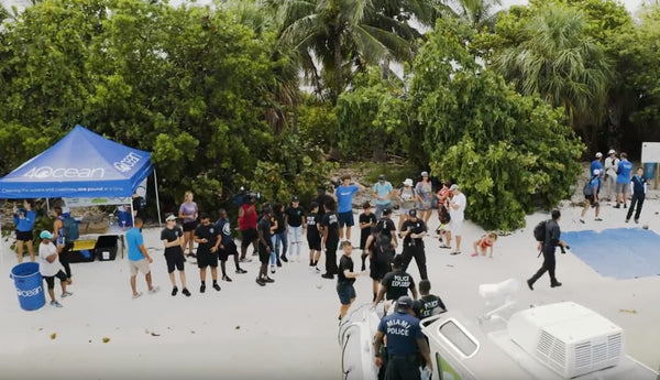 4ocean Miami Dade Police Cleanup at Pace Picnic Island