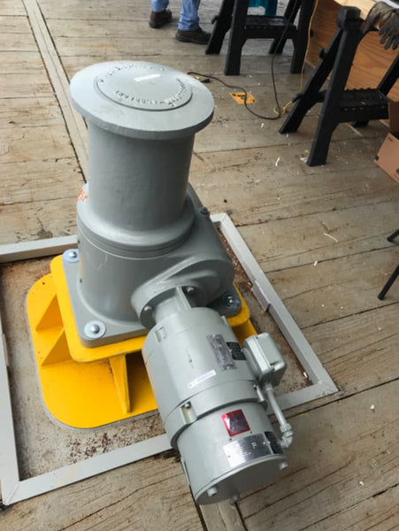 4ocean Capstans Winch Mounted to the Deck