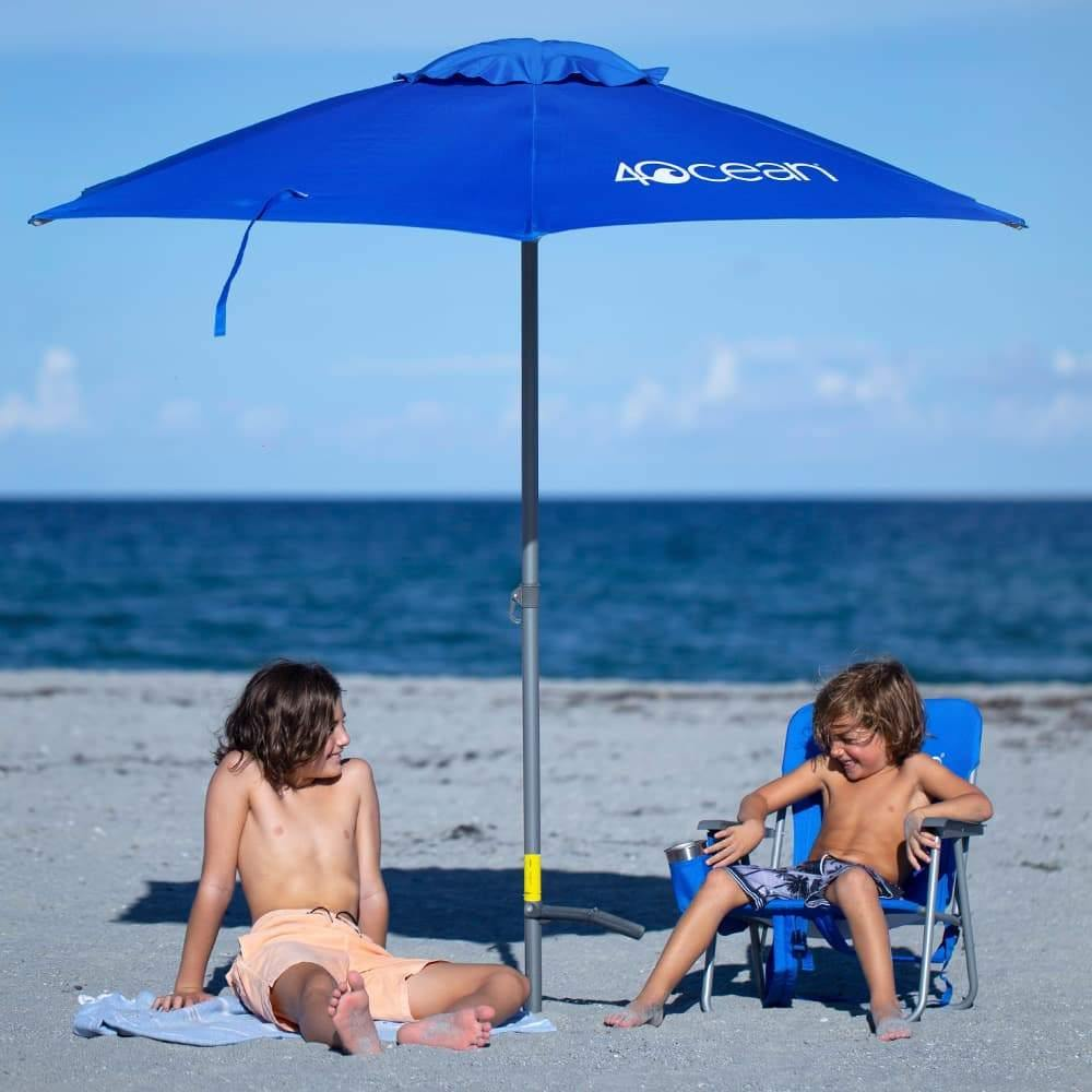 4ocean Signature Beach Umbrella - Set up